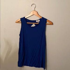 Blue Back Cut-Out Tank Top